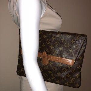 Vintage Louis Vuitton fold over clutch